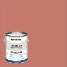 ColorPlace Interior Paint, Indian Summer Orange #30YR 26/330 Semi-Gloss 1 Gallon (Base UPC 0113118432909) Color Indian Summer Orange