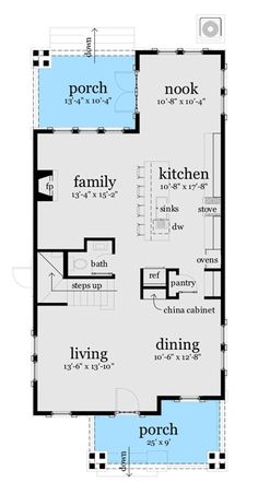 Craftsman Bungalow for Narrow Lot - 44119TD | 2nd Floor Master Suite, CAD Available, Cottage, Craftsman, Metric, Northwest, PDF, Photo Gallery | Architectural Designs