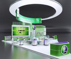 проект Стенда Мегафон ПМЭФ 2014 (Дизайн выставочных стендов) - фри-лансер Игорь Ястребов [3Dbuilder].
