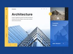 Slider Сoncept for the Architectural Bureau