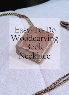 Quick and Easy Whittling! I made this necklace in practically no time! Learn how you can make it too in this step-by-step process. Book Necklace, Dog Tag Necklace, Necklace Ideas, Whittling Projects, Wood Projects, Knife Making Tools, Trench Knife, Collectible Knives, Wooden Walking Sticks