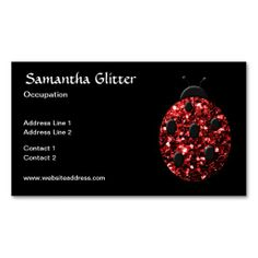 Recently sold! Thank you! #Beautiful Sparkling red sparkles #Ladybird #Ladybug Business card by #PLdesign #RedSparkles #SparklesGift #BusinessCard
