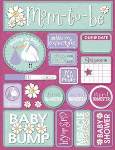 Reminisce - Signature Series Collection - 3 Dimensional Die Cut Stickers - Pregnancy at Scrapbook.com $3.99