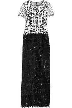 Oscar de la Renta Embellished tulle gown | NET-A-PORTER