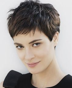 Pixie Haircut Styles - Short Pixie Haircuts - Hottest Pixie Cuts - Pixie hairstyles - pixie haircut for round face - how to style a pixie haircut? Pixie Haircut Styles, Haircut Styles For Women, Curly Hair Styles, Pixie Styles, Short Styles, Latest Styles, Short Hairstyles For Thick Hair, Cute Short Haircuts, Spiky Hairstyles