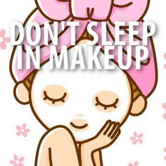 Waarom je altijd je make-up up moet verwijderen vh slapen gaan....
