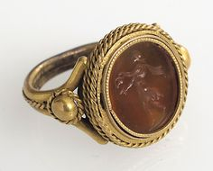 Finger Ring. Date: 16th–18th century Culture: Italian Medium: Gold, intaglio Dimensions: Overall: 7/8 x 11/16 in. (2.3 x 1.7 cm) bezel: 11/16 x 5/8 x 3/16 in. (1.7 x 1.6 x 0.4 cm) Classification: Metalwork-Gold Credit Line: Gift of J. Pierpont Morgan, 1917 Accession Number: 17.191.95