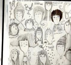 wandering in my head....sketch book and pen, via Flickr.