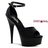 Delight-618PS, 6 Inch High Heels with 1.75 Inch Platform Ankle Strap D'Orsay Sandal