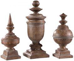 Antique Finials - Set of 3 - Home Accents - Home Decor - Sculptures | HomeDecorators.com