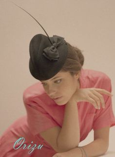 Cocktail Hat Black Akiko 40s Fashion Pillbox