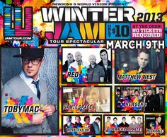 Went to Winter Jam Tour in Grand Rapids last night, lets just say... IT WAS AWESOME! God Bless!!