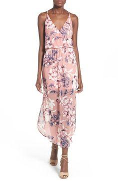 Lush Surplice Maxi Dress, mauve floral (pink sleeveless) $48 | Nordstrom