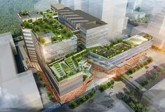 Woods Bagot Begins Construction on Mixed-Use Tech Center in Singapore that You Can Ride Your Bike Through