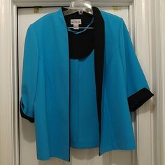 Beautiful matching jacket and top ** NWOT** Jacket can be worn two ways and top has a zipper in the back at the bottom** Perceptions Jackets & Coats