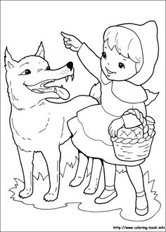 click on the link to download and print this little red riding hood picture to colour - Colouring In For Children