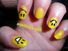 Adorable smiley face nails =)