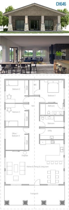 Awesome Plan Maison Familiale that you must know, You?re in good company if you?re looking for Plan Maison Familiale New House Plans, Dream House Plans, Small House Plans, Guest House Plans, Small House Floor Plans, Cabin House Plans, Container House Design, Small House Design, Simple Home Design