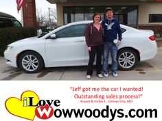 """Jeff got me the car I wanted! Outstanding sales process!"" Bryant & Vickie Elder Gilman City, MO"