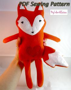 Rag Doll Soft Fox Toy Fabric Plush PDF Pattern on Etsy, $3.44