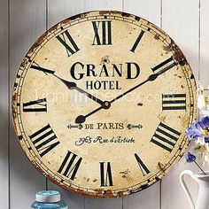 Lov it! Country House Wall Clock -- $33