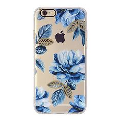 Midnight blue flowers with gold accent leaves to protect and adorn your iPhone. Soft TPU Case Durable High Quality Access to All Ports Available for iPhone 6