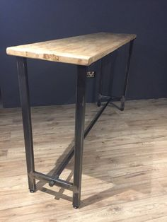 Lovingly made within our workshop here in the UK, these tables would look great in any bar, cafe, bistro, cocktail bar man cave or kitchen. Both the legs and table tops are hand made within our workshop. The tops are made from reclaimed wood and the legs from industrial steel 50mm x 25mm box steel. The steel is put through a distress process, which gives a lovely natural steel patina or worn look. They are also sealed to prevent rust, which also brings out the natural metal colour. The…