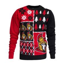 Ottawa Senators Ugly Christmas Sweater - Love this! Ugly Sweater, Ugly Christmas Sweater, Canadian People, Nhl Hockey Teams, Ottawa, Being Ugly, How To Wear, Yup, Clothes