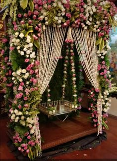 For the special day a special seating for the bride with abundance flowers and love. Plan your destination wedding with us. Indian Wedding Theme, Desi Wedding Decor, Wedding Mandap, Outdoor Wedding Decorations, Backdrop Decorations, Wedding Receptions, Wedding Ideas, Goa, Mehendi