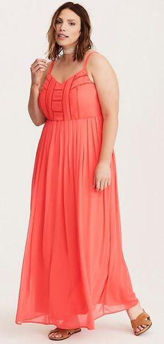 Plus Size Chiffon Maxi Dress