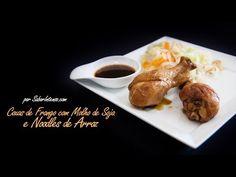 ▶ Receita de Coxas de Frango com Molho de Soja e Noodles de Arroz - YouTube