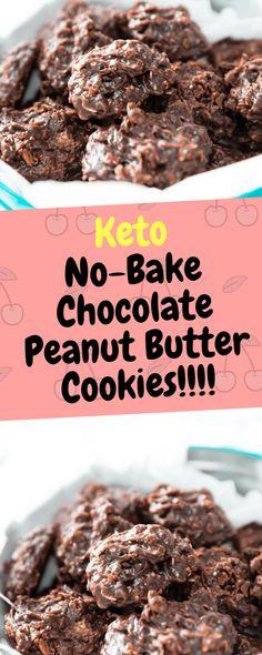 Keto No-Bake Chocolate Peanut Butter Cookies - 10Recipes10   10Recipes10