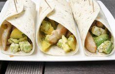 Zomers: Meergranenwraps met avocado, mango, feta, zongedroogde tomaten en kip