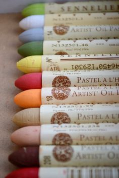I Love New Pastels, the Anticipation of that first stroke on the white paper...
