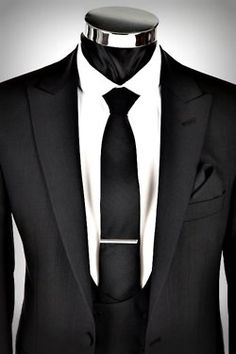 You can never go wrong with a black suit!