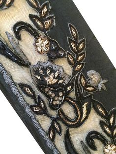 Vintage Sari Border Antique Hand Beaded Décor by vintagemartindia