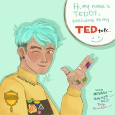 What do you mean this isn't how Teddy starts off his sentences? Harry Potter Tumblr, Harry Potter Pictures, Harry Potter Fan Art, Harry Potter Fandom, Harry Potter World, Harry Potter Memes, Teddy Lupin, Harry Potter Next Generation, No Muggles