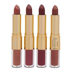 tarte kissing squad 4-pc limited edition lip sculptor set found on Polyvore featuring beauty products, makeup, lip makeup, lip gloss, beauty, tarte, polishing kit, shiny lip gloss and lip shine