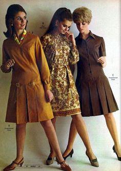 Montgomery ward catalog - fall/winter 1968 vintage fashion м 60s And 70s Fashion, 60 Fashion, Fashion Pants, Retro Fashion, Vintage Fashion, Fashion Design, Fashion Trends, Missoni, Design Ikea