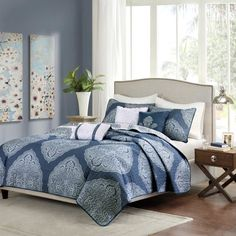 Rebecca 6-Piece Quilted Coverlet Set by Madison Park