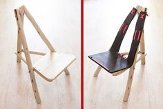 Flat pack wood & stainless steel chair, perfect for the outdoors and in the house! Wishbone Chair, Diy Design, Outdoors, Stainless Steel, Urban, Flat, Wood, Gifts, House