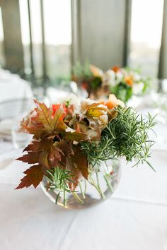 View entire slideshow: Fall Centerpieces on http://www.stylemepretty.com/collection/3126/