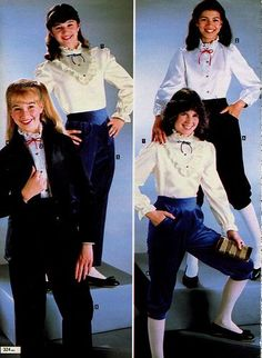 80s Pedal pushers & a frilly blouse!.