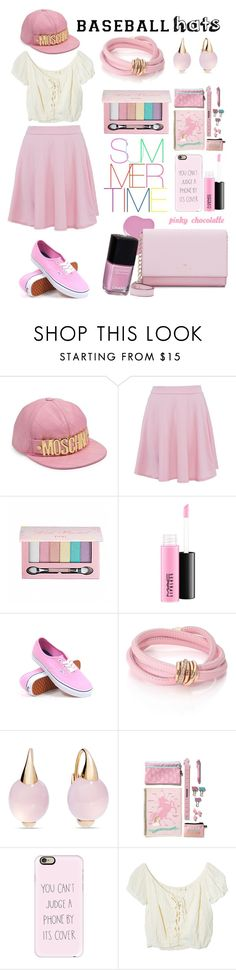 """""""#614 Top Hat - Baseball Cap Style: 28/04/16"""" by pinky-chocolatte ❤ liked on Polyvore featuring Moschino, Pop Beauty, MAC Cosmetics, Vans, de Grisogono, Pomellato, Casetify, Jens Pirate Booty and Kate Spade"""