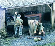 Verlinden WWII US Soldiers Things to Do II Resin Model Military Figure Kit 1/35 Scale #1996