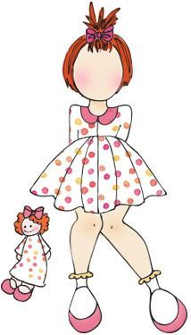 Prima Marketing Julie Nutting Doll Stamp - Adara 3.5 x 5.5 Cling Stamp - Mixed Media Doll Stamp found at fotobella.com