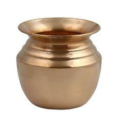 Lota en cuivre pour des bienfaits ayurvédiques - Récipient pour l'eau - Fabriqué artisanalement en Inde: Amazon.fr: Cuisine & Maison