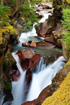 Take a Ride by Chris Soukup, via 500px; Avalanche Gorge, Glacier National Park, Montana