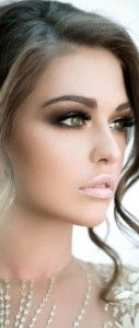 maquillage mariée yeux verts