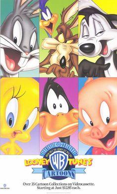 Warner Brothers Looney Tunes Cartoons 11x17 Movie Poster